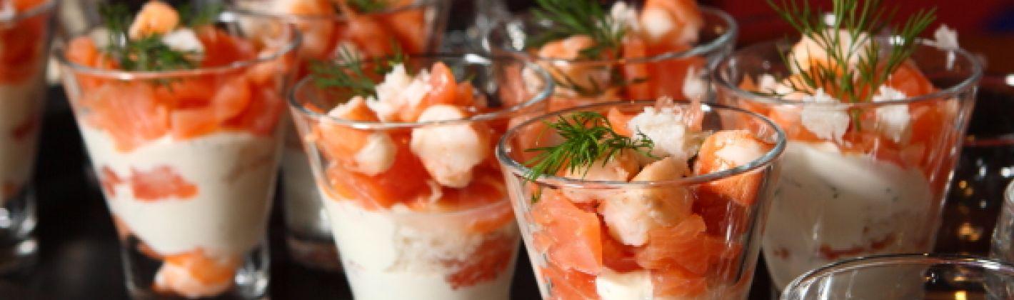 Ricetta bicchierini di salmone