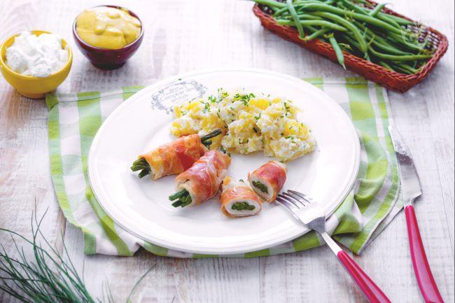 Ricetta involtini di pollo e fagiolini