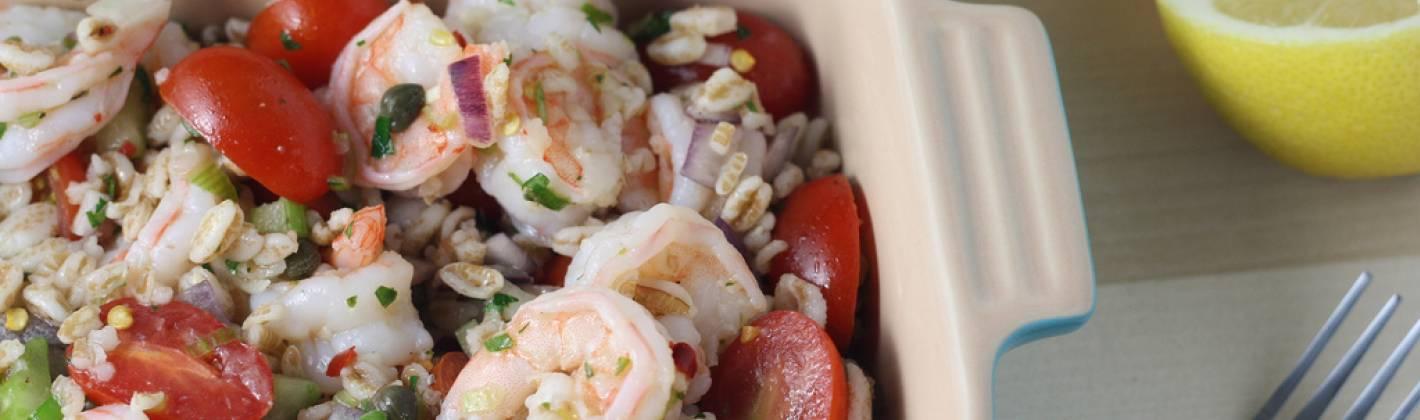 Ricetta insalata di farro, orzo e frutti di mare