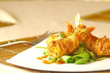 Ricetta gamberi avvolti nella pasta kataifi