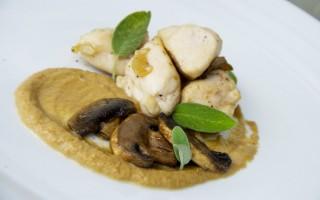 Ricetta pollo saltato agli champignon con crema di finferli al macis ...