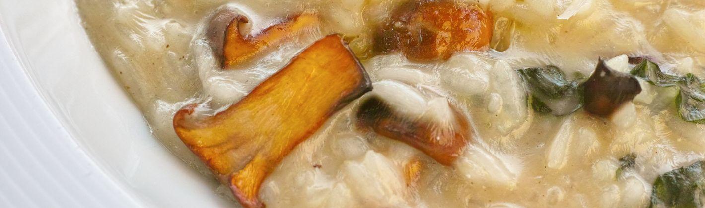 Ricetta risotto ai funghi e zafferano