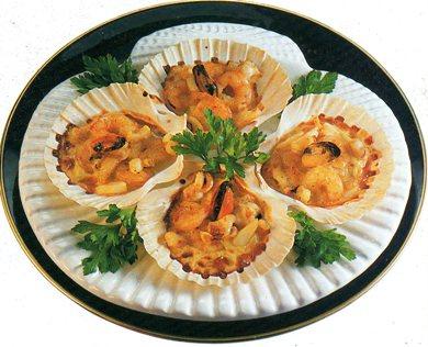 Conchiglie di pesce gratinate