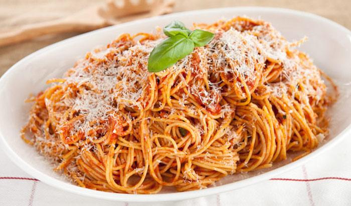 Spaghetti con la pancetta