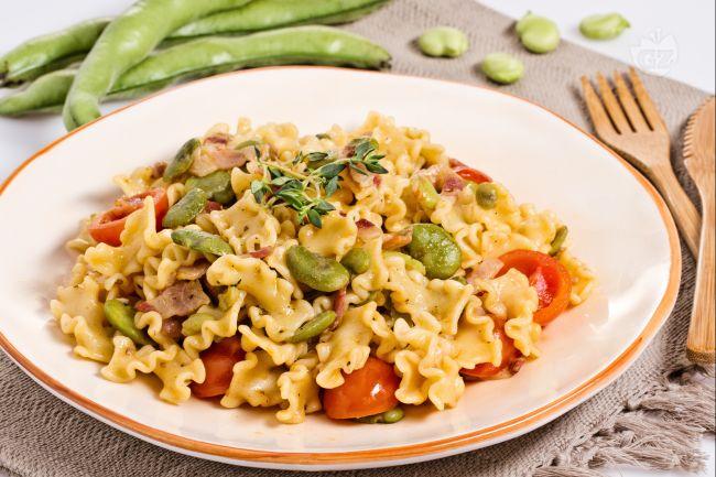 Ricetta pasta fave pancetta e pomodorini