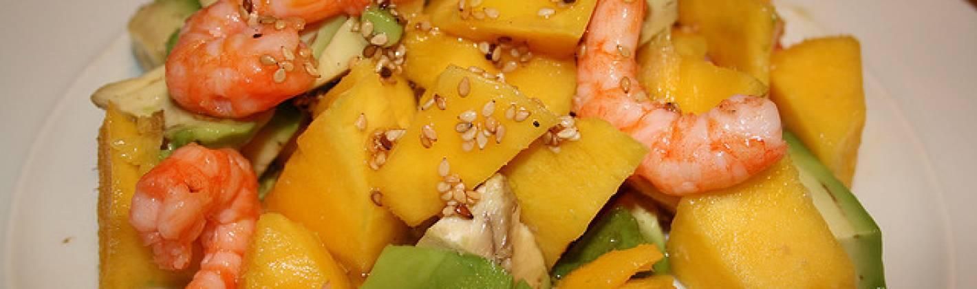 Ricetta insalata hawaiana con avocado e gamberetti