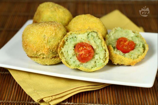 Ricetta crocchette di patate e broccoli con cuore di pomodorini