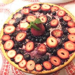 Cheesecake alle fragole e mirtilli