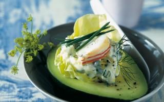 Ricetta avocado con ripieno d'aragosta