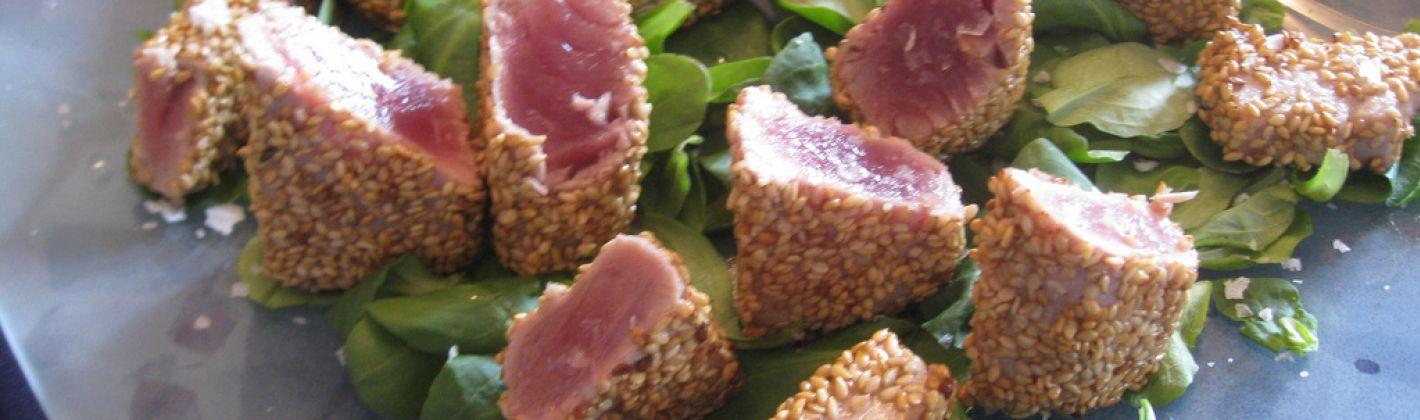Ricetta bocconcini di tonno al sesamo