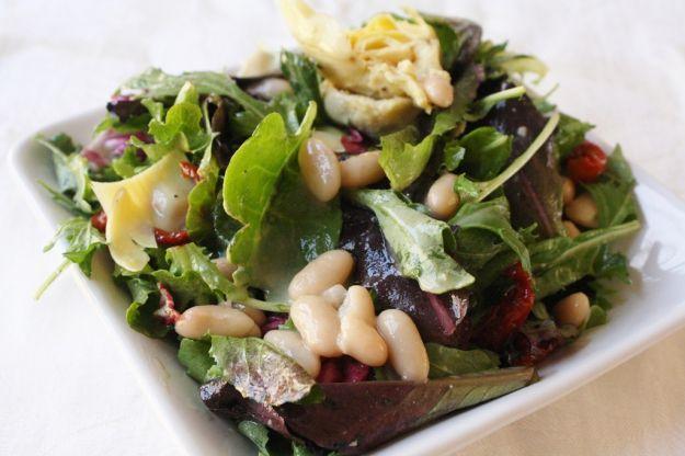 Ricetta insalata di cannellini, carciofi, erbette e pomodori secchi ...