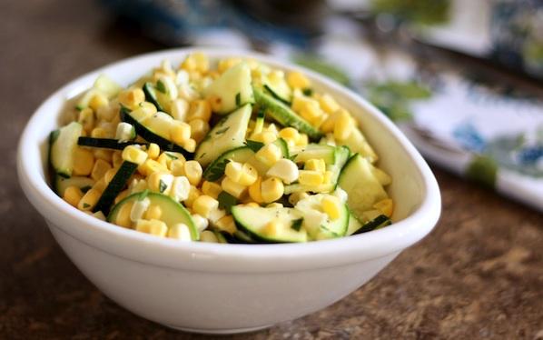 Insalata di zucchine e piselli