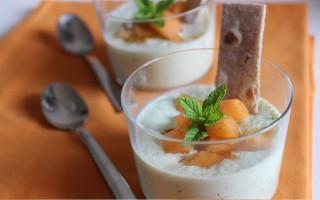 Ricetta crema di yogurt, cetrioli e melone