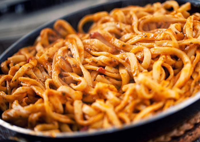 Tagliolini con ragu di scorfano e anguilla