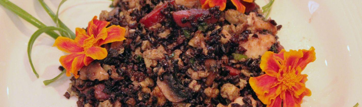 Ricetta riso venere e pollo tandoori