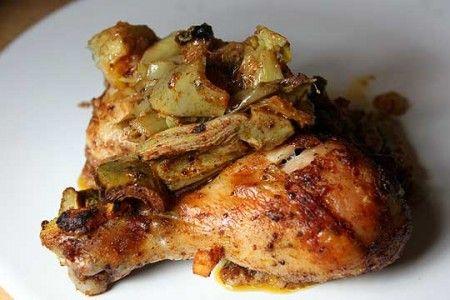 Ricetta cosce di pollo con carciofi