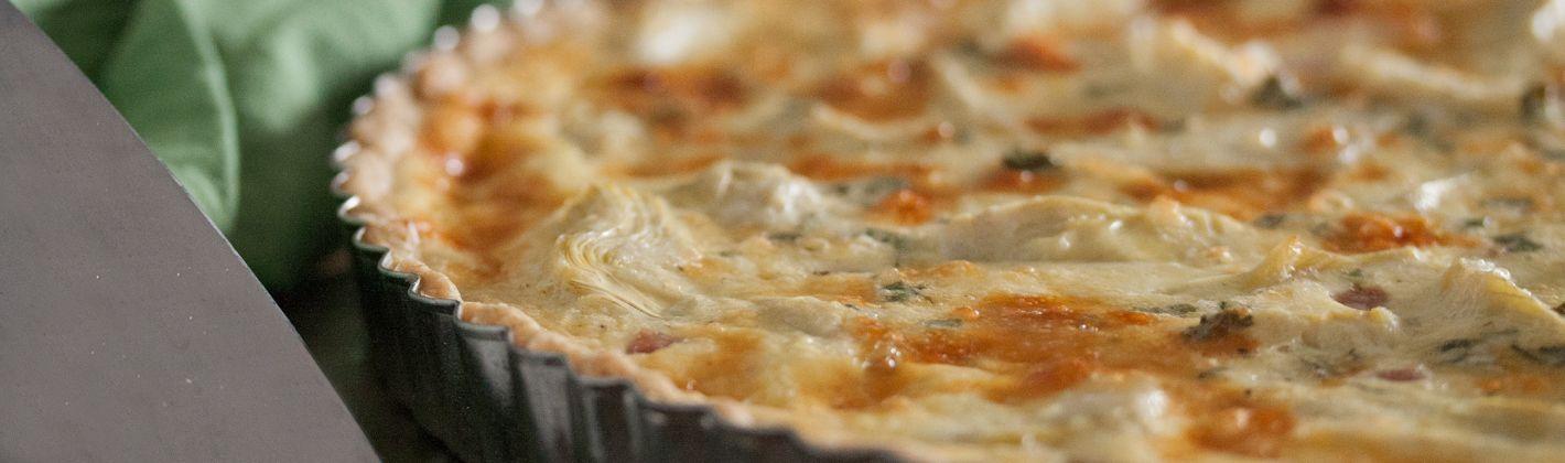 Ricetta torta fumè di carciofi con prosciutto di praga