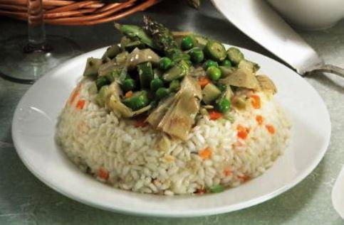 Timballo di riso alle primizie
