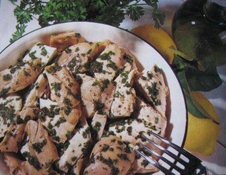 Ricetta insalata di pollo al prezzemolo