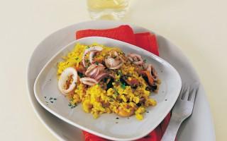 Ricetta riso integrale allo zafferano e frutti di mare