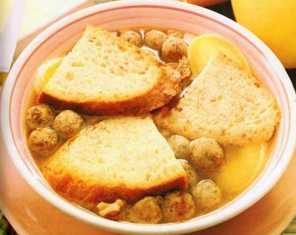 Zuppa di pane e carne