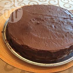 Torta chiffon con crema al cioccolato