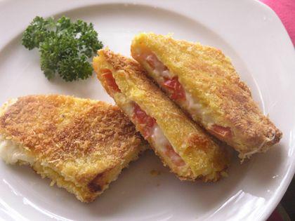 Ricetta formaggio in carrozza con pomodori secchi