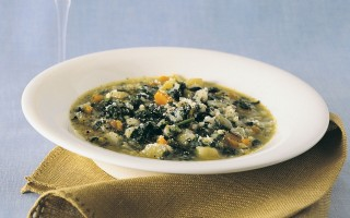 Ricetta minestra di riso e spinaci