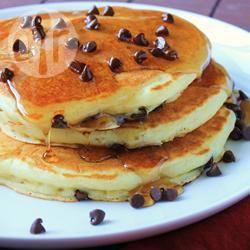 Pancake con gocce di cioccolato