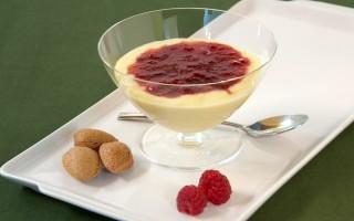 Ricetta crema alle mandorle con gelatina di lampone