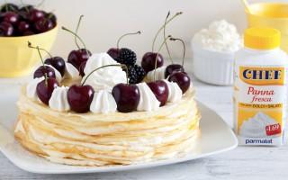 Ricetta torta di crepes alla crema diplomatica