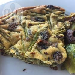 Frittata asparagi e funghi