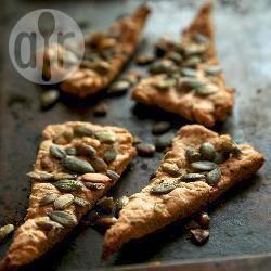 Crostini croccanti con semi di zucca