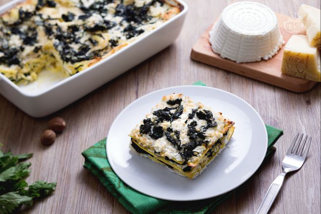 Ricetta lasagne con ricotta e ortiche