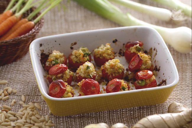 Ricetta pomodorini gratinati ripieni di bulgur