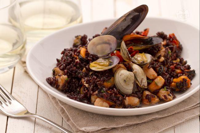 Ricetta riso venere ai frutti di mare