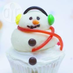 Cupcake a pupazzo di neve