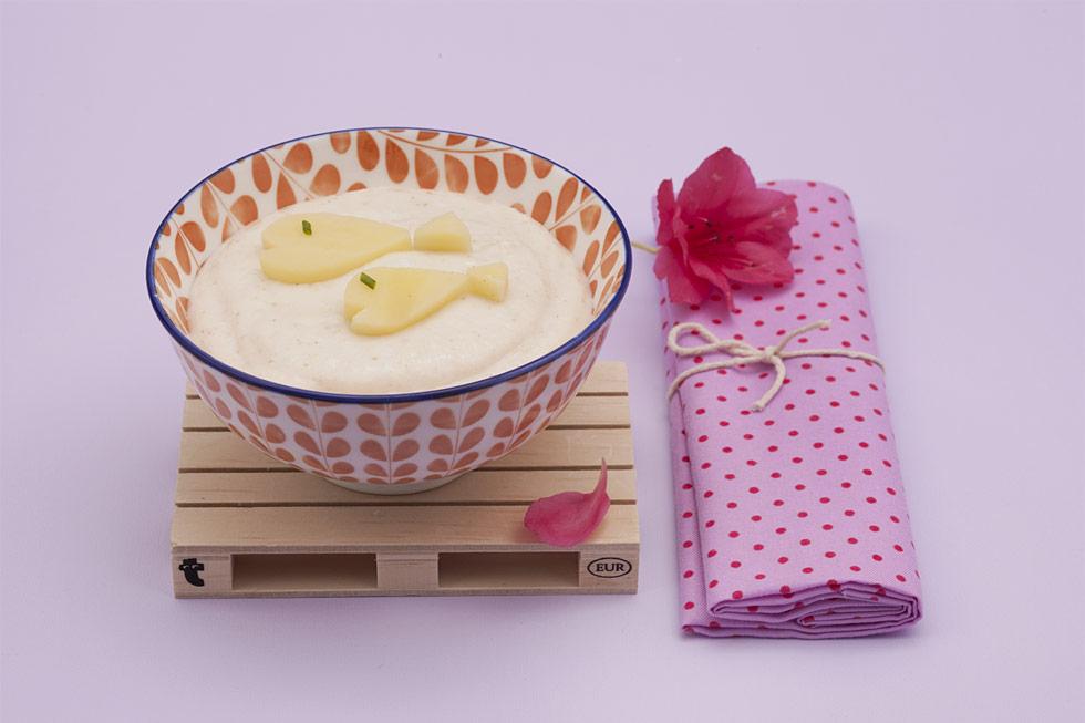 Ricetta crema densa di riso al latte con pesce bianco e patate ...