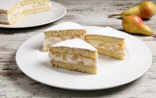 Ricetta torta cremosa di pere e ricotta