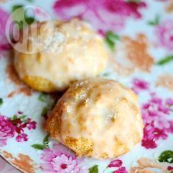 Biscotti al cocco con glassa al limone