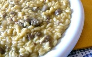 Ricetta risotto allo zafferano con pasta di salame