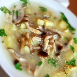 Zuppa di riso e funghi