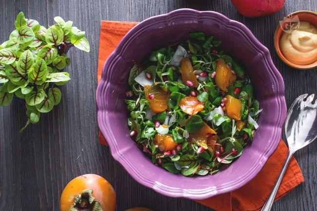 Ricetta insalata di cachi e melagrana
