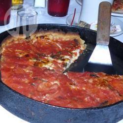 Pizza rustica ricotta pomodori e basilico