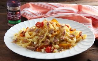 Ricetta tagliatelle con filetti di alici del cantabrico, pomodorini e ...