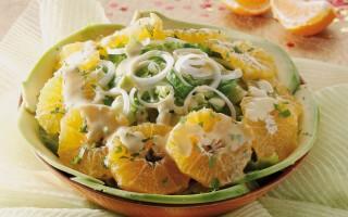 Ricetta misto di lattughe con avocado e mandarini