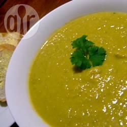 Zuppa di patate dolci, porri e zucca