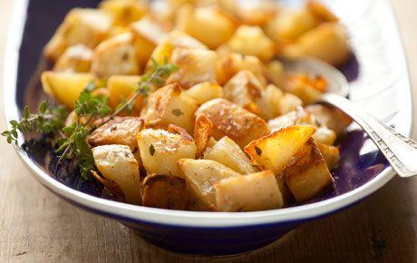 Ricetta patate all'acciuga dorate al forno