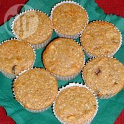 Muffins all'avena e alle mele