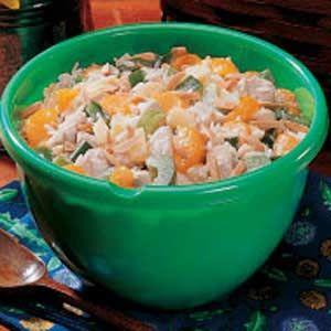 Ricetta insalata di riso: integrale con pollo e melone